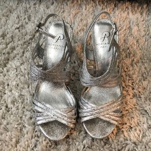 Audrianna Papell Silver Heels